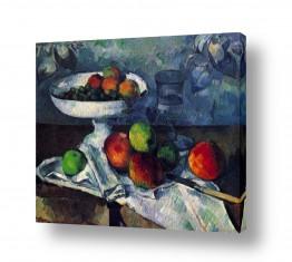 טבע דומם סלסלת פירות | Paul Cezanne 019