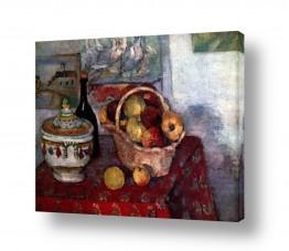טבע דומם סלסלת פירות | Paul Cezanne 020