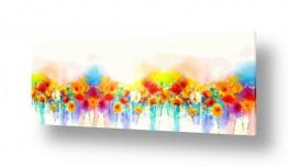 ציורים אבסטרקט | #0011 פרחים צבעים חיים