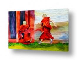 נושאים דת   #0014 נזירים טיבטים