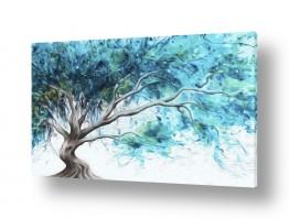 אבסטרקט מופשט אבסטרקט פרחוני ובוטני | #0015 עץ מרהיב ציור שמן