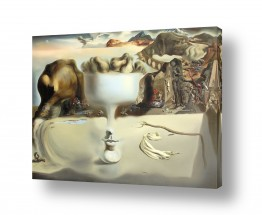 אמנים מפורסמים סלבדור דאלי | apparition of face fruit
