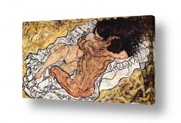 אמנים מפורסמים אגון שילה | החיבוק The embrace