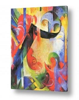 אמנים מפורסמים מרק פרנץ | Franz Mark 005