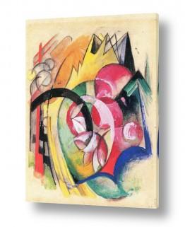 אמנים מפורסמים מרק פרנץ | Franz Mark 007