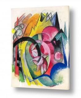 אמנים מפורסמים מרק פרנץ | Franz Mark 024