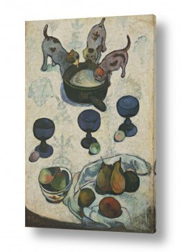 חיות בית כלבים | Still Life with Three Pup