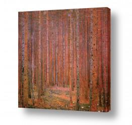 אמנים מפורסמים גוסטב קלימט | Tannenwald אשוחים