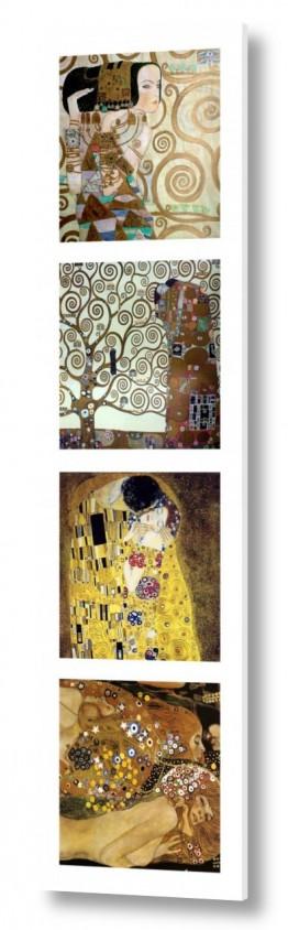 אמנים מפורסמים גוסטב קלימט | gustav klimt collage