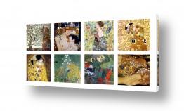 אמנים מפורסמים גוסטב קלימט | גוסטב קלימט collage