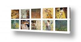 אמנים מפורסמים גוסטב קלימט | gustav klimt קולאג