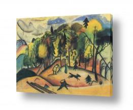 אמנים מפורסמים אוגוסט מקה | August Macke 034