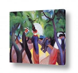 אמנים מפורסמים אוגוסט מקה | August Macke 068