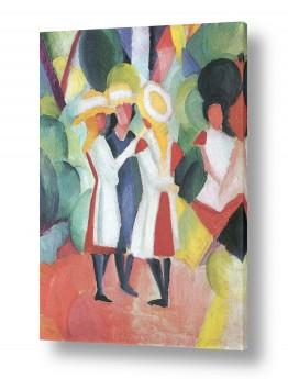 אמנים מפורסמים אוגוסט מקה | August Macke 070