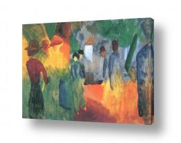אמנים מפורסמים אוגוסט מקה | August Macke 074