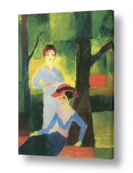 אמנים מפורסמים אוגוסט מקה | August Macke 078