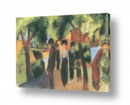 אמנים מפורסמים אוגוסט מקה | August Macke 080