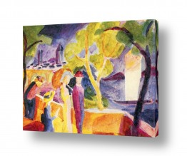 אמנים מפורסמים אוגוסט מקה | August Macke 081