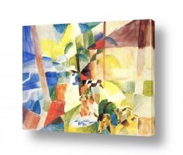 אמנים מפורסמים אוגוסט מקה | August Macke 082
