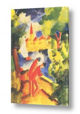 אמנים מפורסמים אוגוסט מקה | August Macke 083