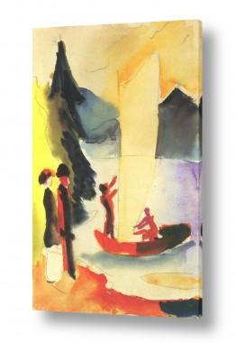 אמנים מפורסמים אוגוסט מקה | August Macke 084