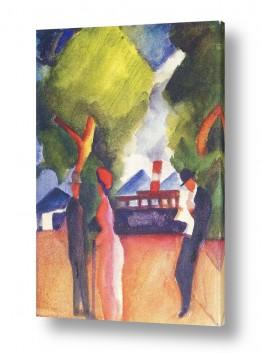 אמנים מפורסמים אוגוסט מקה | August Macke 089