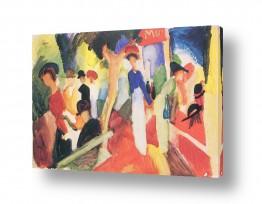 אמנים מפורסמים אוגוסט מקה | August Macke 090