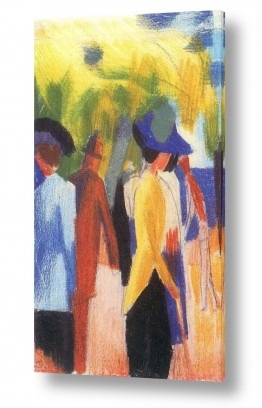אמנים מפורסמים אוגוסט מקה | August Macke 095