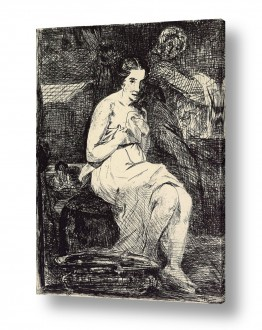 אמנים מפורסמים אדואר מנה   Édouard Manet 059