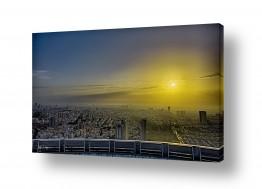 ערים בישראל תל אביב   Yellow Sunrise