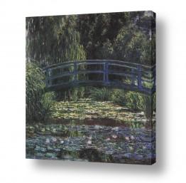 אמנים מפורסמים קלוד מונה | Water lily pond