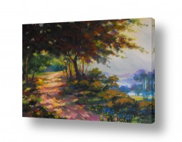 ציורים ציורים אנרגטיים | יער