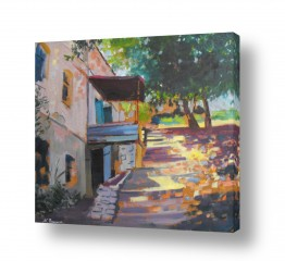 ציורים ציורים אנרגטיים | צהריים בכפר