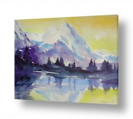 ציורים ציור | בוקר בהרים