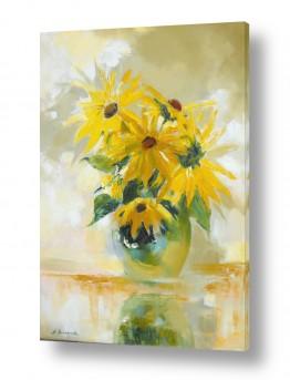 ציורים טבע דומם | זר צהוב