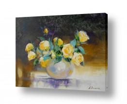 ציורים ציורים אנרגטיים | יופי בצבע צהוב