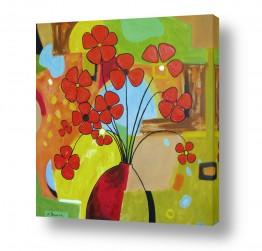 פרחים פרגים | האדום בולט