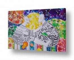 ציורים ציורים אנרגטיים | פיקניק