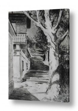 ציורים נטליה ברברניק | רחוב הישן