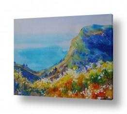ציורים נטליה ברברניק | נוף ליד הים