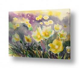 ציורים נטליה ברברניק | פרחים ראשונים