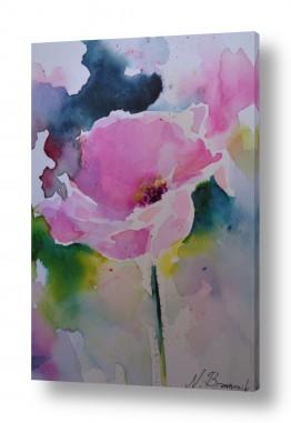 ציורים ציור בצבעי מים | פרח