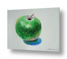 תמונות לחדרי אוכל | תפוח עץ ירוק