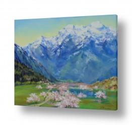 נופים וטבע הרים | אביב  בהאלפים