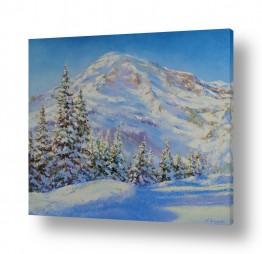 נופים וטבע הרים | שלג