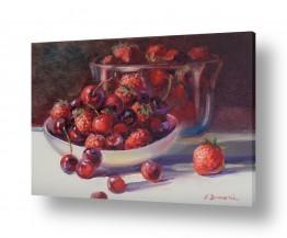 טבע דומם סלסלת פירות | פרי אדום