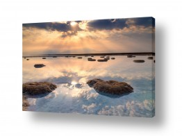 שמים עננים | זריחה בים המלח