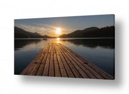 מיים אגמים | שקיעה באגם