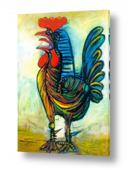אמנים מפורסמים פאבלו פיקאסו | The Rooster