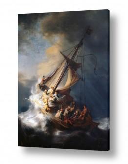 אמנים מפורסמים רמברנדט הרמנזון ואן ריין | Christ in the storm